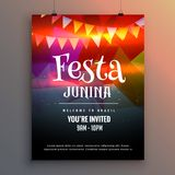 Festa junina party invitation flyer design template Stock Photography