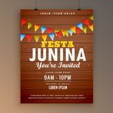 Festa junina party invitation poster flyer design Royalty Free Stock Photo