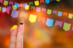 Festa Junina Party with this lovely finger couple Stock Photos