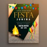 Festa junina party poster design holiday greeting Stock Photos