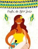 Festa Junina plakatowy projekt ilustracja wektor