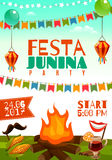 Festa Junina Poster Royalty Free Stock Photography