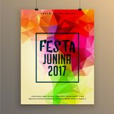 Festa junina poster template design for brazil festival Stock Photos