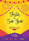 Festa Junina Sao Joao Carnival 2019 Festival Porto. Brazilian Traditional Celebration Festa Junina. `Festa de Sao Joao` - Festival of St John of Porto vector illustration