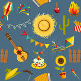 Festa junina seamless pattern. Royalty Free Stock Photos