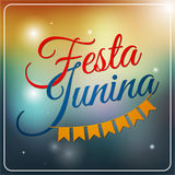 Festa Junina set of logos, emblems and labels - traditional Braz Stock Image