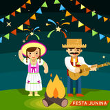 Festa Junina. St Johns june festival. Party brazil celebration. Vector illustration Stock Photo
