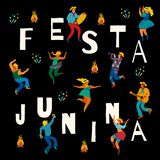Festa Junina. Vector template. Festa Junina. Vector template for Latin American holiday, the June party of Brazil. Design for card, poster, banner, flyer Royalty Free Stock Images