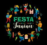 Festa Junina. Vector template. Festa Junina. Vector template for Latin American holiday, the June party of Brazil. Design for card, poster, banner, flyer Stock Photo