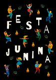 Festa Junina. Vector template. Festa Junina. Vector template for Latin American holiday, the June party of Brazil. Design for card, poster, banner, flyer Royalty Free Stock Photos