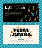 Festa Junina. Vector templates. Festa Junina. Vector templates for Latin American holiday, the June party of Brazil. Design for card, poster, banner, flyer Stock Image