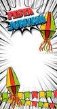 Festa Junina vertical text banner. Festa Junina traditional June festival Latin America. Brazil village carnival. Vector color illustration background. Satin Stock Photo