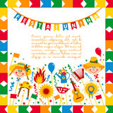 Festa Junina village festival in Brasil. Banner layout. Royalty Free Stock Images