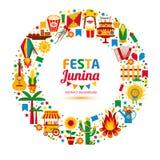 Festa Junina village festival in Latin America. Royalty Free Stock Photography