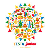 Festa Junina village festival in Latin America.  Royalty Free Stock Image