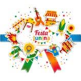 Festa Junina village festival in Latin America. Royalty Free Stock Photo