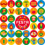 Festa Junina village festival in Latin America. Royalty Free Stock Photography