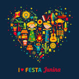 Festa Junina village festival in Latin America. Royalty Free Stock Photo