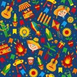 Festa Junina village festival in Latin America. Royalty Free Stock Photos