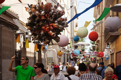 Festa Major de Gracia i Barcelona Royaltyfria Foton