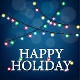 Festa natalícia feliz com partido claro Foto de Stock Royalty Free