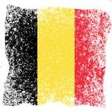 Festa nazionale belga Bandierina del Belgio Struttura di Grunge Fotografia Stock Libera da Diritti