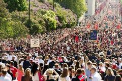 Festa nazionale in Norvegia Fotografie Stock Libere da Diritti