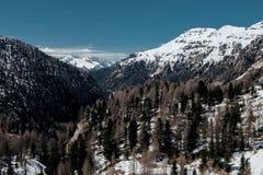 Festa nella stazione sciistica dell'Italia del Nord Giro alle dolomia Fotografie Stock Libere da Diritti