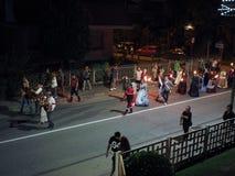 Festa-patronale dei Corpi Santi (Patronal-Festival der heiligen Körper bedeutend) in Settimo Torinese Stockfotos