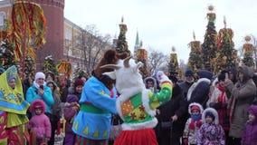 Festa piega Maslenitsa stock footage