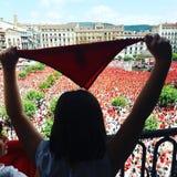 Festa principal de Sanfermines Pamplona em 2018 imagem de stock