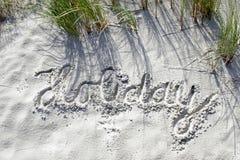 Festa in sabbia Immagini Stock