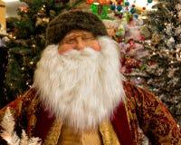 Festa Santa Claus di Natale e decorazioni dell'albero Fotografia Stock