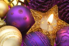 Candela di Natale Fotografie Stock