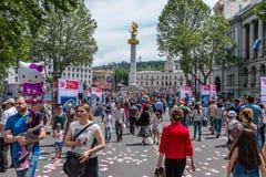 Festa Tbilisi Georgia di festa dell'indipendenza fotografia stock libera da diritti