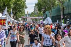Festa Tbilisi Georgia di festa dell'indipendenza fotografie stock libere da diritti