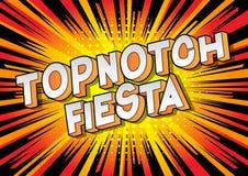 Festa Topnotch - palavras do estilo da banda desenhada ilustração stock