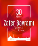 Festa Zafer Bayrami 30 Agustos della Turchia Royalty Illustrazione gratis