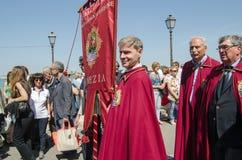 Festadella Sensa, parade Stock Afbeeldingen