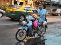 Festaioli tailandesi di nuovo anno Fotografia Stock Libera da Diritti