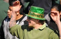 Festaiolo di giorno della st Patricks Fotografia Stock