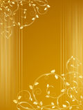 Festal background. With floral decorations Royalty Free Stock Images