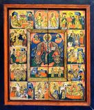 Festal icons. The icons of the Twelve Great Feasts, Wallachia Royalty Free Stock Image