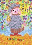 Festal påsk Vektor Illustrationer