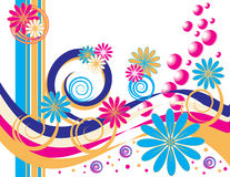 Festança floral da bolha ilustração do vetor