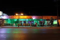 Festaurant in Faliraki by night. Rhodes island, Greece Stock Photos