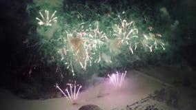 Feste del fuoco d'artificio aeree archivi video