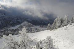 Feste dello sci in Andorra Località di soggiorno di Grandvalira Fotografia Stock Libera da Diritti