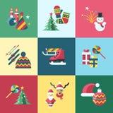 Feste di natale e del nuovo anno di vettore di Digital fissate Fotografia Stock