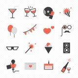 Feste ed icona del partito illustrazione di stock